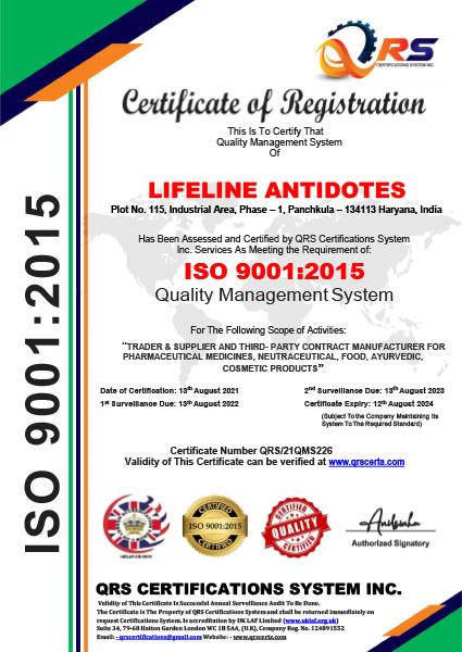 Lineline Certificate